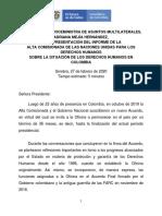 Respuesta de Colombia Al Informe de DD.hh de La ONU