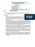INF Nº---- informe sustentatorio catastro
