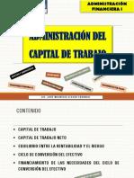 ADMINISTRACIÓN DEL CAPITAL DE TRABAJO. PPT