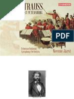 booklet - Estonian National Symphony Orchestra & Neeme Järvi - Strauss in St. Petersburg (2017)
