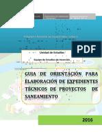 GUIA ORIENT EXP TEC SANEAMIENTO