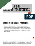 FRAUDE A LOS ESTADOS FINANCIEROS