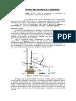 Trabajo Práctico de Laboratorio Destilación