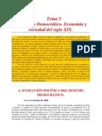 El Sexenio Democrático. Transformaciones económicas y sociales