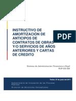 RUP-DS-086 Amortizacin de Anticipos de Aos Anteriores y Cartas de Crdito