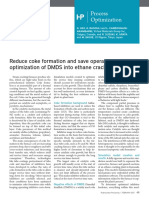 Reduce coke formation and save operating costs with optimization of DMDS in  ethane cracking furnaces