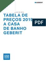PDF Geberit Tabela 2019 a Casa de Banho Geberit