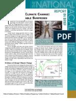 Abrupt Climate Change, Report in Brief