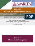 15CSE370 WMC Lec 5 - Wireless Propagation Models