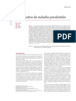 Classification des maladies parodontales 2004