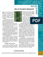 National capcity in Forestry Research, Report in Brief