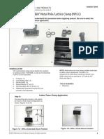 SP3522 FIBERLIGN Metal Pole Lattice Clamp AP