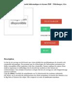 Cybersécurité - 5e éd. - Sécurité informatique et réseaux PDF - Télécharger, Lire