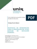 Propuesta de intervención para la prevención del acoso escolar