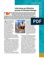 Informing an Effective Response to Climate Change, Report in Brief