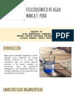 ANÁLISIS FISICOQUÍMICO DE AGUA MARCA E-PURA