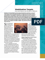 Climate Stabilization Targets, Report in Brief