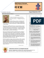 Aug Sept Newsletter 2010