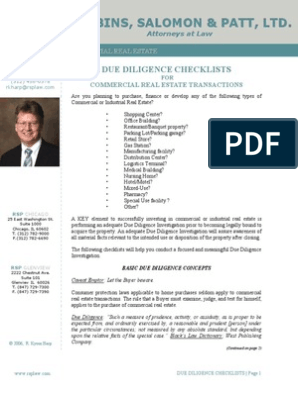 Due Diligence Checklists for Commercial Real Estate | Title
