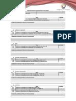 Ficha de monitoreo de operatividad de los equipos