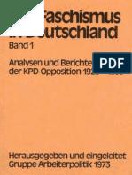 Der Fa Schism Us in Deutschland Analysen Und Berichte Der KPD-Opposition 1928-1933