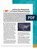 Limiting the Magnitude of Climate Change, Report in Brief