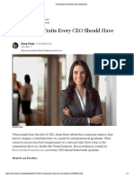 7 Personality Traits Every CEO Should Have