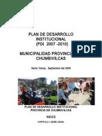 PDI - Municipalidad Proivincial de Chumbivilcas 2009