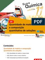 Quantidade e composição quantitativa de soluções