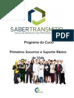Programa Primeiros Socorros e Suporte Básico de Vida - 25h -Versão2