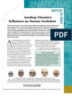 Understanding Climate's Influence on Human Evolution, Report in Brief