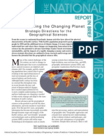 Strategic Directions for the Geographical Sciences, Report in Brief