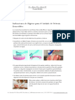 Higiene para protesis removibles