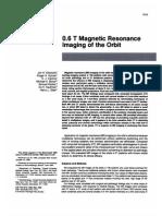 Magnetic Resonance Imaging of the Orbit