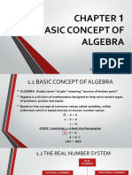 CHAPTER 1- THE BASIC CONCEPT OF ALGEBRA