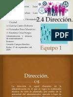 2.4 Dirección