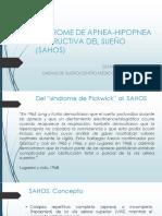 Síndrome de apnea-hipopnea obstructiva del sueño SAHOS
