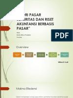 TEORI PASAR SEKURITAS DAN RISET AKUNTANSI BERBASIS(1)