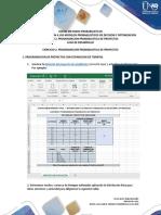 GUIA DE DESARROLLO TAREA 1 - EJERCICIO 2 PROGRAMACION PROBABILISTICA DE PROYECTOS (16-01)
