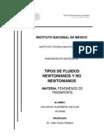TIPOS DE FLUIDOS NEWTONIANOS Y NO NEWTONIANOS