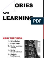 The Theories of Human Learning - Lecture 01
