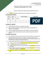 Procedure - Product Preservation - Rev 0