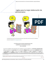 Características y reglas para la mejor elaboración de un documento administrativo _ Lenguaje administrativo