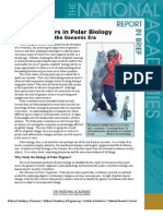 Frontiers in Polar Biology in the Genomic Era, Report in Brief