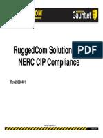 RuggedCom Solutions for NERC CIP