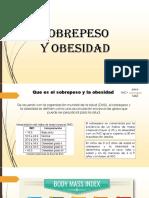 PRESENTACION OBESIDAD Y ALIMENTACION CORRECTA