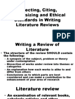 Selecting, Citing, Synthesizing and Ethical Standards
