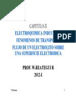 ELECTROQUIMICA Y LA MECANICA DE FLUIDO