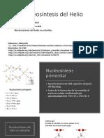 Nucleosíntesis Del Helio
