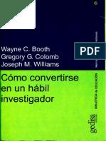 Cómo convertirse en un hábil investigador [OCR0] - Wayne C. Booth.pdf